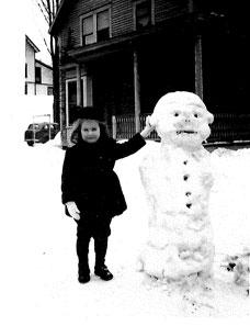 02 My 1st snowman - St. Johnsbury, VT.