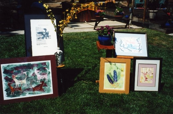 "09 Printmaking by Dianna for ""Art in the Garden\"" in 1997."