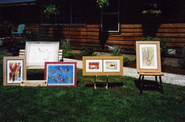"10 Printmaking by Dianna for ""Art in the Garden\"" in 1997."